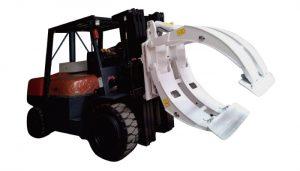 Accesorios para montacargas Abrazaderas de rollo de papel de brazo simple de rotación 360