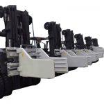 2.7 toneladas de accesorios para abrazaderas de pacas de montacargas