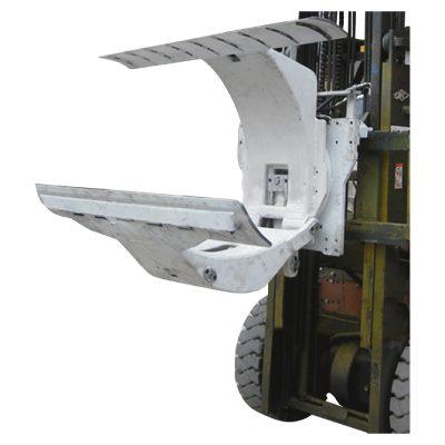 Carretilla elevadora diesel de 3 toneladas con accesorio de abrazaderas de rollo de papel