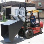 Cuchara de 3 toneladas Hyundai Diesel Carretilla elevadora Cuchara con bisagra Horquilla y cucharón