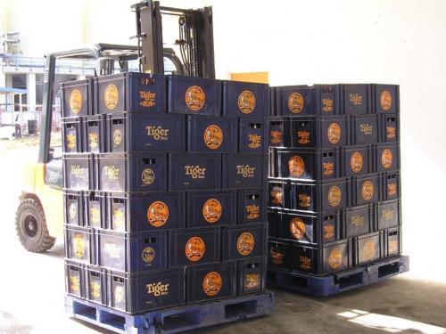 Uso de doble desplazamiento lateral en la industria de bebidas