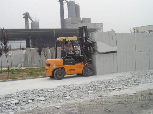 Abrazadera de bloque de cemento para montacargas