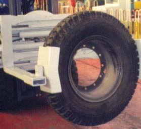 Resbalón en la abrazadera del neumático de la horquilla